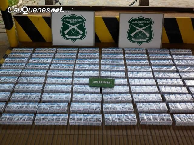 Carabineros desbarató venta ilegal de cigarrillos extranjeros en Cauquenes