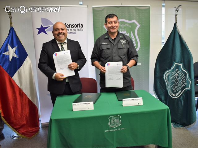 Gendarmeria firma convenio Defensoria 02-cqnet