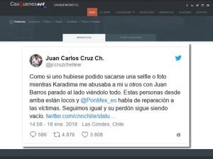 tuit Juan carlos Cruz por apoyo papa a Barros 01-cqnet