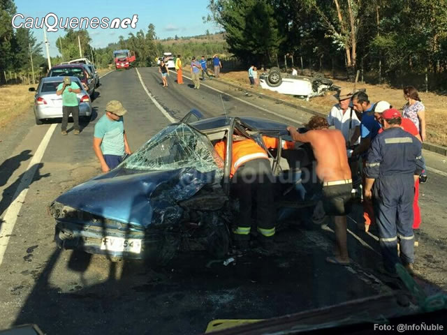 Tres personas lesionadas en accidente en ruta Quirihue – Cauquenes