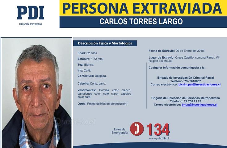 PDI busca ciudadano colombiano CARLOS TORRES LARGO 00