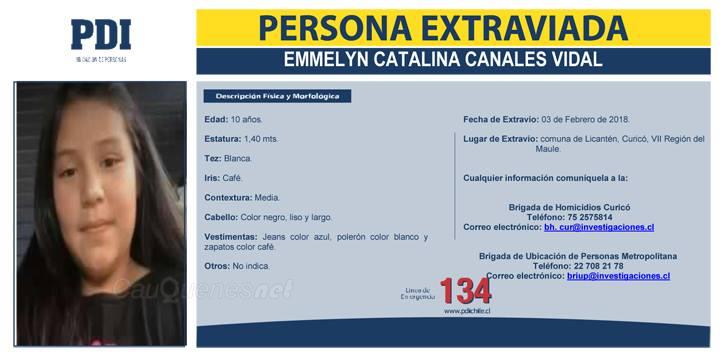 PDI Se Busca Emmelyn Canales Vidal 01-cqnet