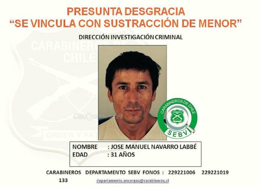 Se busca Jose Navarro por secuestro de menor 01-cqnet