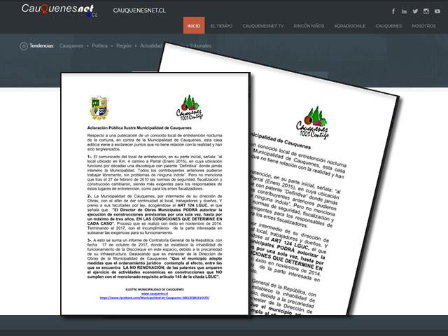 Declaracion publica municipalidad por Espacio Piedra 01-cqnet