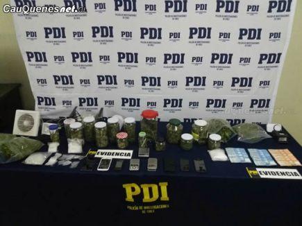 PDI detiene 2 hombre y 1 mujer x drogas 300318 01-cqcl