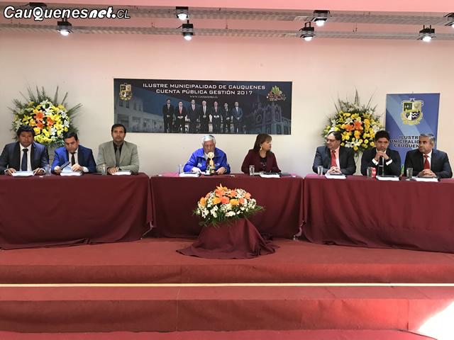 Municipalidad de Cauquenes realizó Cuenta Pública del período 2017