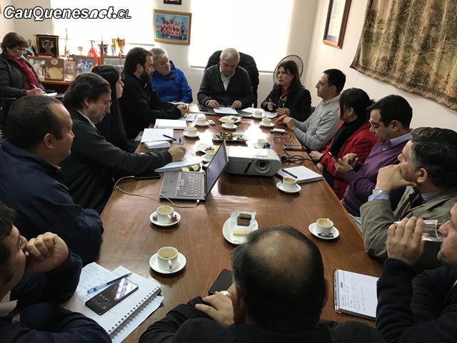 Comisión de Infraestructura de agua potable rural se reunió con municipio de Cauquenes