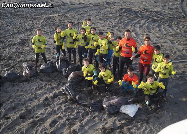 Liceo de Pelluhue dio inicio a su taller de surf