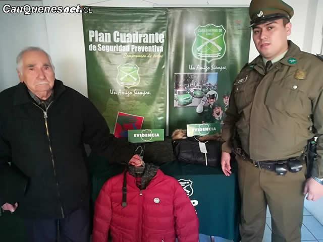 Carabineros de parral recupero chaquetas robadas 01-cqcl