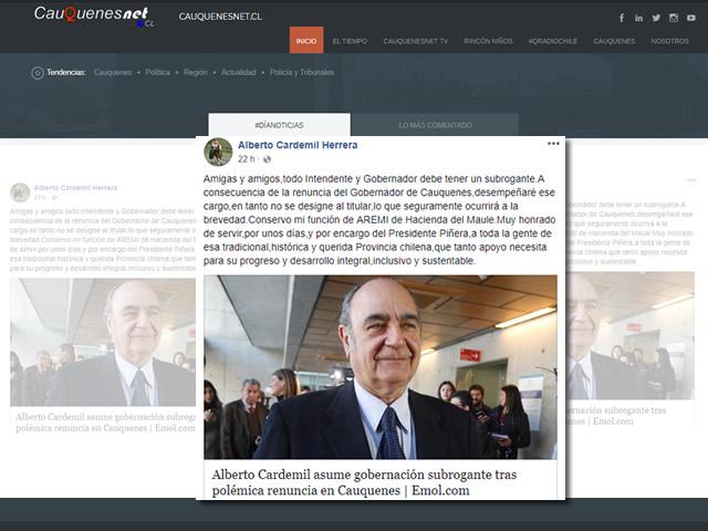 Cardemil reconoce en Facebook nombramiento 01-cqcl