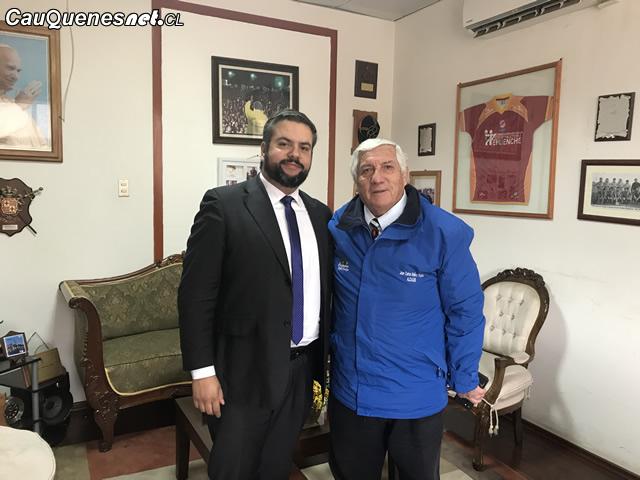 Alcalde y Gobernador de Cauquenes sostuvieron reunión de coordinación