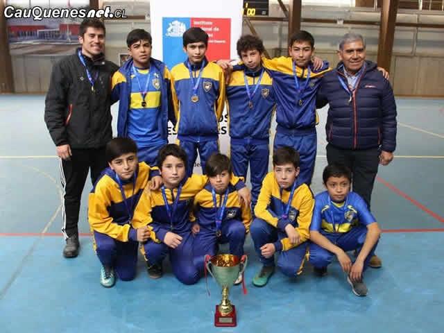 Cauquenes es campeón de fútbol Sub 14 en Juegos Deportivos Escolares 2018
