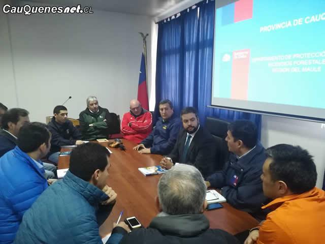Gobernador Ruiz encabezó reunión de la Mesa Forestal en Cauquenes