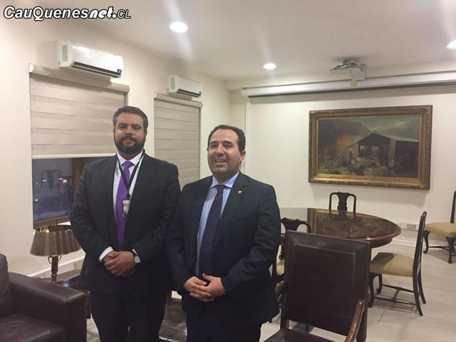 Gobernador de Cauquenes se reunió con Subsecretario para las  Fuerzas Armadas