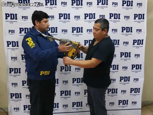 PDI cauquenes recupero herramientas robadas 060718 02-cqcl