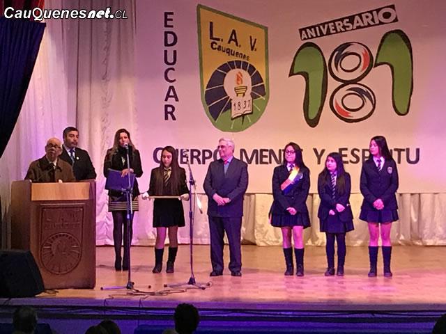 Liceo Antonio Varas de Cauquenes conmemoró su 181 aniversario