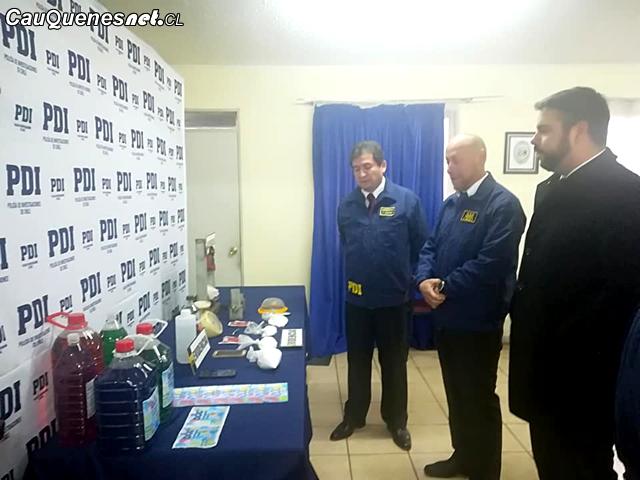 Gobernador Cauquenes visito PDI q desbarato lab de cocaina 170818 02-cqcl