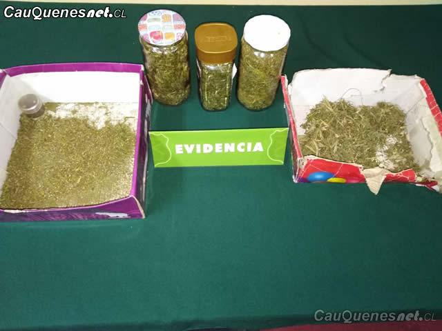 incautan marihuana pobl Los Conquistadores Cauquenes 230818 01-cqcl