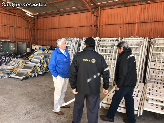Rotary Club y Municipio de Cauquenes reciben desde Japón container con implementación de Salud