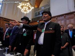 La Haya Evo Morales escucha resolucion de CIJ 011018 01-cqcl