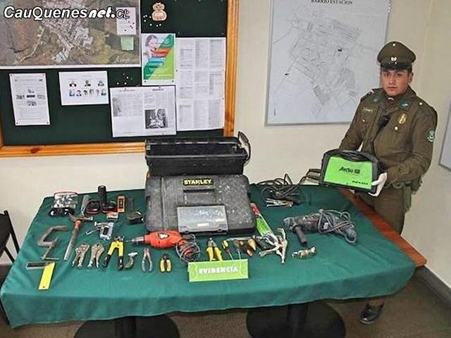 En Cauquenes sujeto es detenido por el robo de herramientas en una vivienda