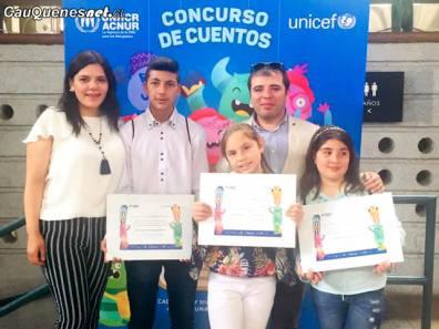 Alumnos de Escuela Blanco Encalada premiados por onu unicef 02-cqcl
