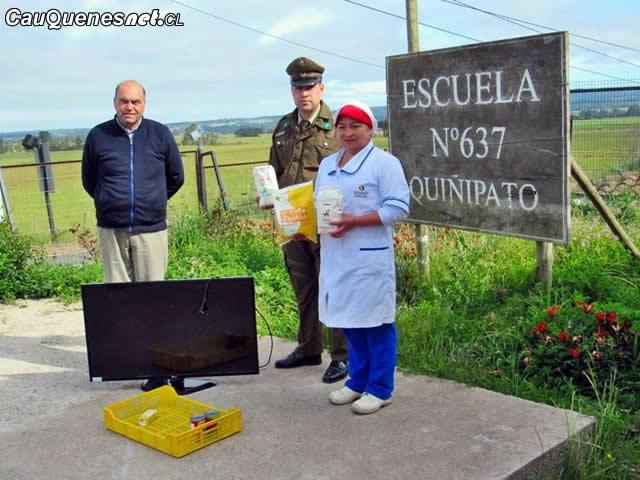 Pareja de hermanos robó televisor y alimentos en escuela rural de Chanco