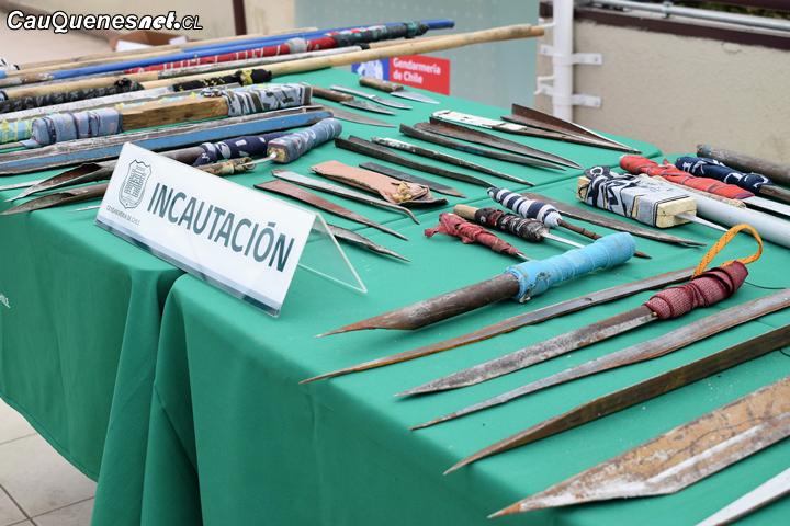 Cárcel de Cauquenes lideró en incautación de armas cortopunzantes entre los penales del Maule