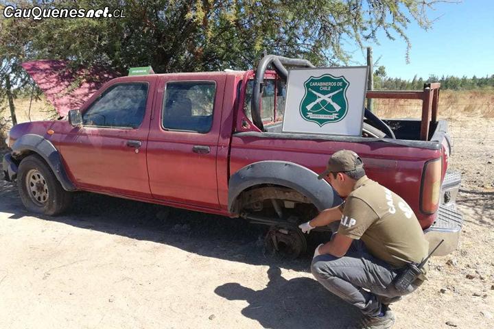 En Cauquenes encuentran camioneta encargada por robo en Santiago