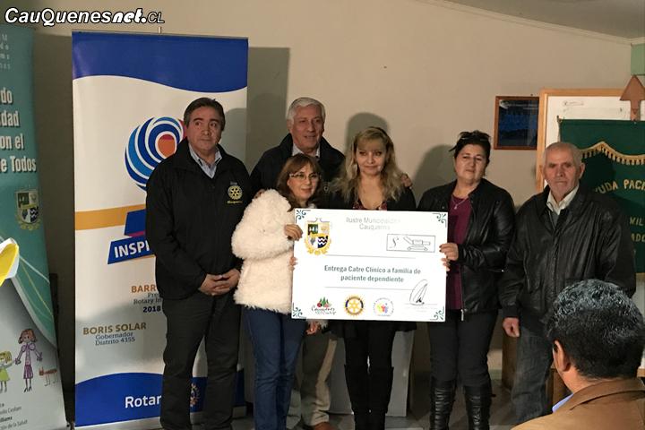 Agrupación de pacientes postrados de Cauquenes agradecieron catres clínicos entregados por el municipio y Rotary