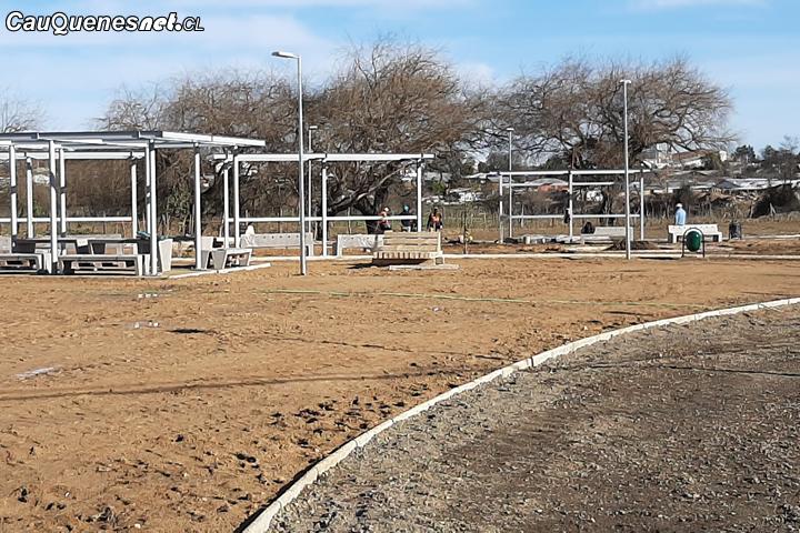 Primer parque para cauquenes presenta importante avance en su construcción