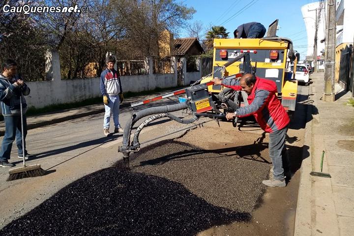 Municipalidad de Cauquenes asegura que continúa reparación de calles con fondos propios