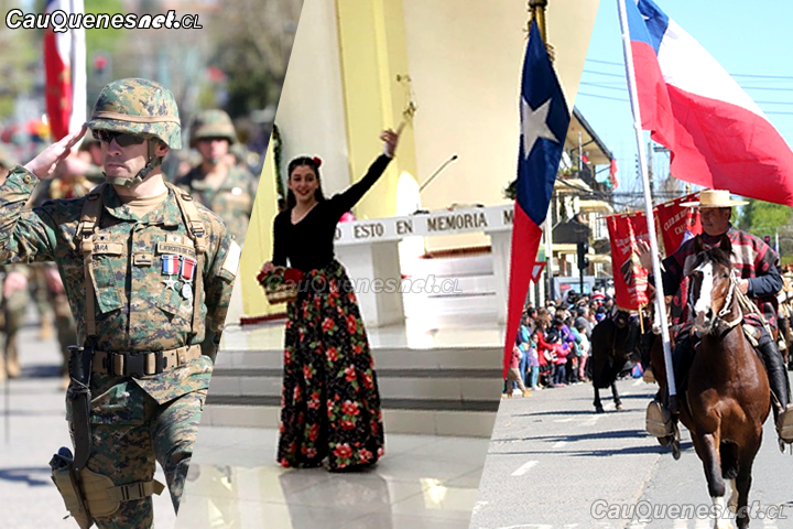 Con ceremonia religiosa y posterior desfile cívico militar se conmemoró oficialmente Fiestas Patrias en Cauquenes