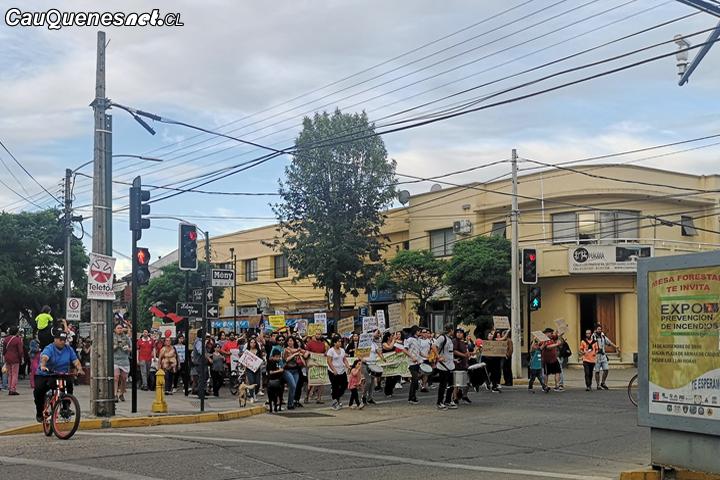 Cauquenes vivió nueva jornada de manifestaciones pacíficas