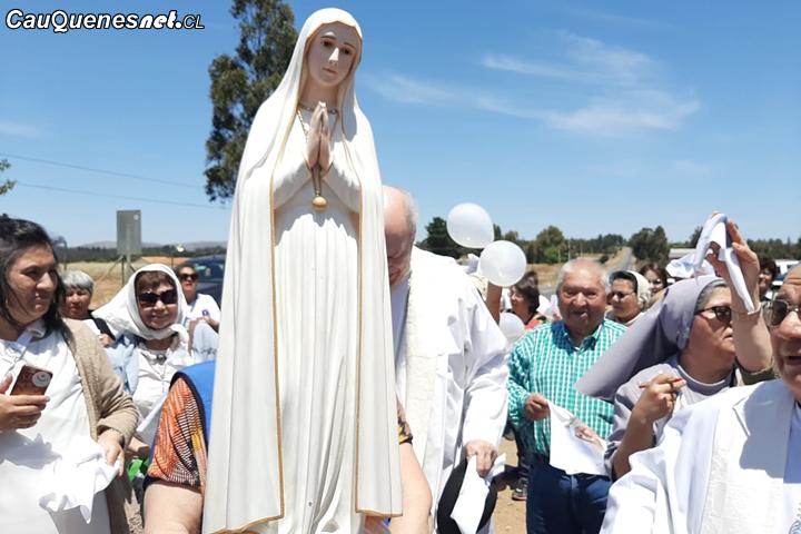 Imagen de la Virgen de Fátima Peregrina por Cauquenes, Chanco y Pelluhue