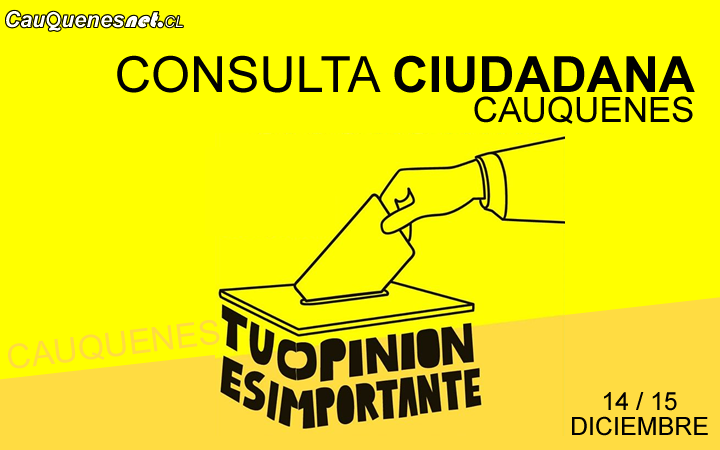 Consulta de la Dignidad: Una decena de organizaciones ciudadanas de Cauquenes realizarán proceso que municipio no quiso desarrollar