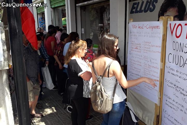 Cauquenes: Más de 500 personas participaron de la primera jornada de la #ConsultaCiudadana Autoconvocada