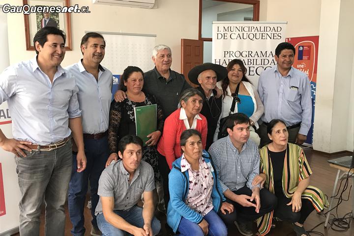 Municipio de Cauquenes realizó certificación a tres familias del programa habitalidad