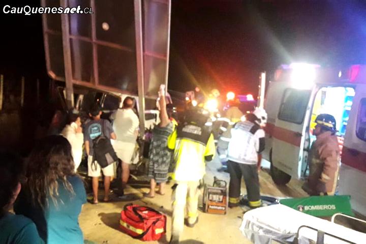 Accidente de tránsito en ruta M-50 Cauquenes – Pelluhue deja cuatro personas lesionadas