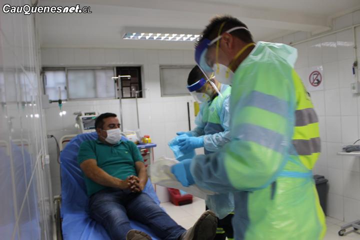 Simulacro de Coronavirus activó a la Red de Salud del Maule