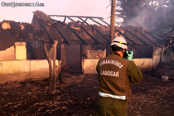 Trágico incendio en Chanco cobró la vida de una persona