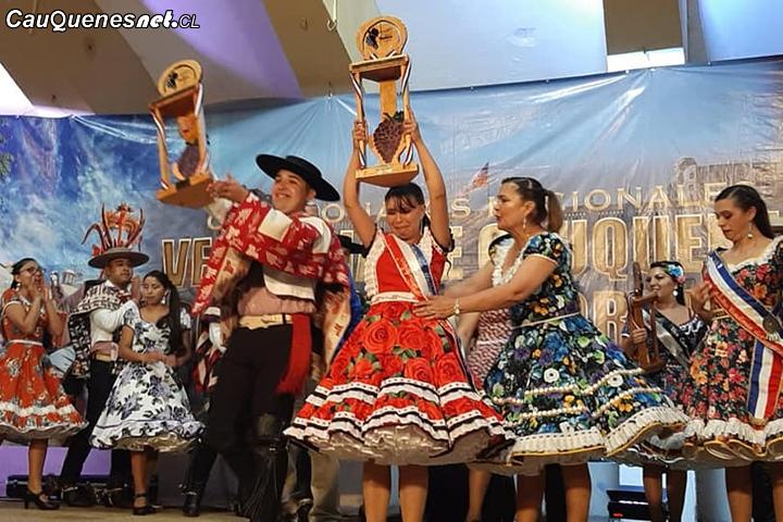 Desde la Región de Los Ríos y Bio Bio son los ganadores del Campeonato de Cueca Vendimia de Cauquenes