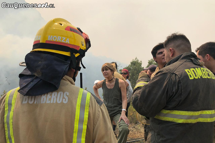 Senadora Rincón pidió esfuerzo extra al Gobierno para combatir incendio en Molina