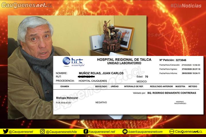 """Alcalde de Cauquenes podría ser un """"falso negativo"""""""