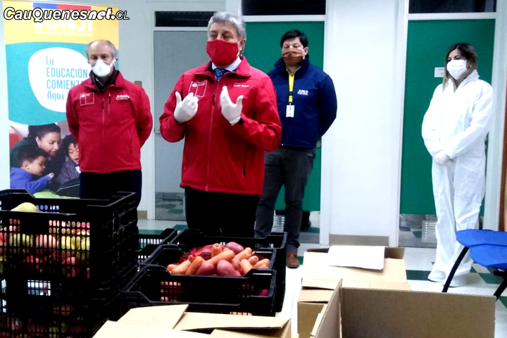 Se completa entrega de más de 710 mil cajas de alimentos a estudiantes maulinos