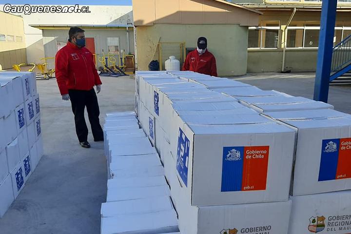 """Gobernador de Cauquenes dio inicio a entrega de más de 870 cajas del Programa """"Alimentos Para Chile"""""""