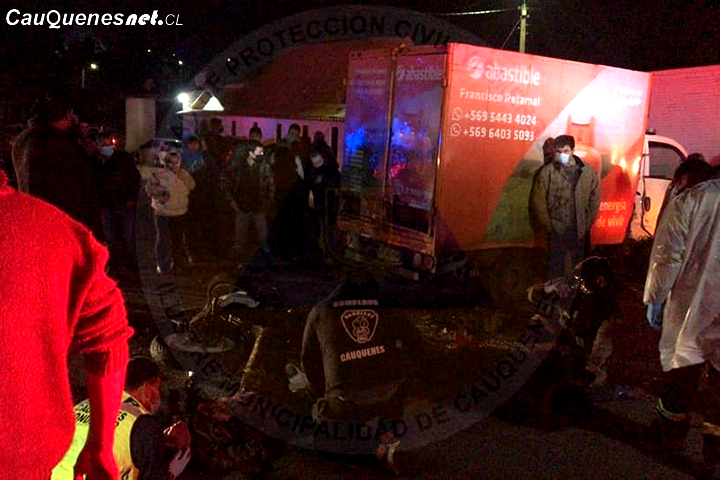 Fallece conductor de motocicleta que protagonizó accidente de tránsito en Cauquenes