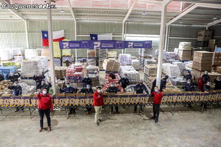 Más de 18 mil 500 cajas de alimento han llegado a la Provincia de Cauquenes