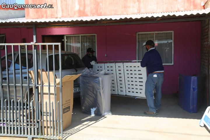 Continúa la entrega de catres clínicos para personas postradas en Cauquenes