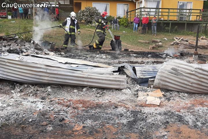 Una Adulta Mayor fallecida deja trágico incendio en #Pelluhue